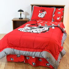 NCAA Georgia Bed in a Bag - With White Sheets