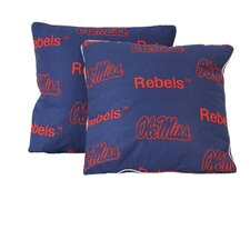 NCAA Ole Miss Cotton Throw Pillow (Set of 2)