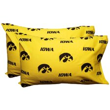 NCAA Iowa Hawkeyes Pillowcase (Set of 2)