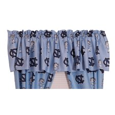 NCAA UNC Printed Rod Pocket Curtain Valance