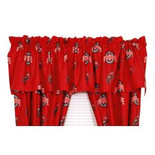 NCAA Ohio Printed Rod Pocket Curtain Valance