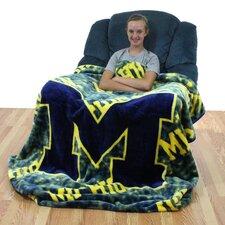 NCAA Michigan Throw Blanket