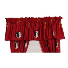 NCAA Florida State Printed Rod Pocket Curtain Valance