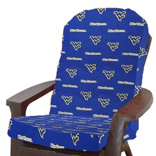 NCAA West Virginia Outdoor Adirondack Chair Cushion