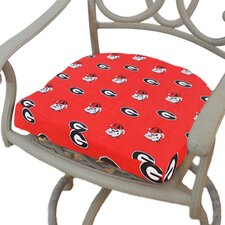 NCAA Georgia Outdoor Dining Chair Cushion