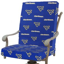 NCAA West Virginia Outdoor Dining Chair Cushion