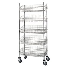 "Mobile Post 80"" Five Shelf Shelving Units (Set of 5)"