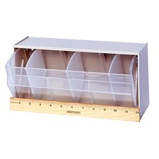 """12"""" Dividable Clear Tip Out Bin with 1 Bin Cup"""