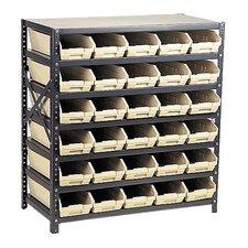 Economy Shelf Storage Units with Small Bins