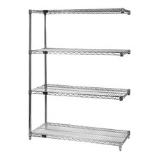 Large Q-Stor Chrome Wire Shelving Add-On Unit