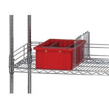 Q-Stor Wire Shelving Side Ledges