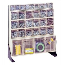 """28"""" Single Sided Floor Stand Storage Unit withTip Out Bins"""