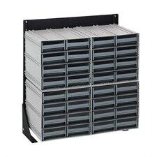 "24"" Single Sided Interlocking Storage Cabinet Floor Stand"