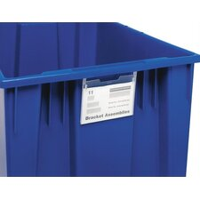 Label Holder for Stack and Nest Totes and Cross Stack Tubs (Set of 6)