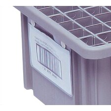 """Dividable Grid Storage Container Label Holder (2"""" L x 8"""" W) (Set of 6)"""