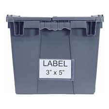 Attached Top Storage Container Clear Label Holder (Set of 25)
