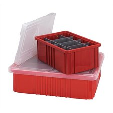 "Dividable Grid Storage Clear Container Cover (10 7/8"") (Set of 4)"