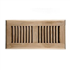 "5.6"" x 11.5"" White Oak Wood Self Rimming Vent Cover"