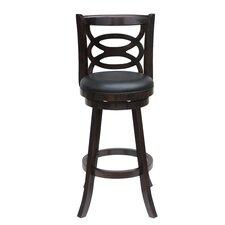 "Seina 24"" Swivel Bar Stool with Cushion"