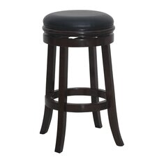 "Boraam Backless 29"" Swivel Bar Stool with Cushion"