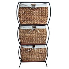 Seagrass Basket Storage Pangaea Rattan 3 Drawer File Cabinet