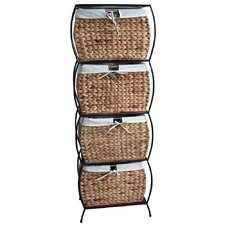 Seagrass Basket Storage Pangaea Rattan 4 Drawer File Cabinet
