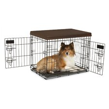 Home Decor 2-Door Wire Kennel with Divider