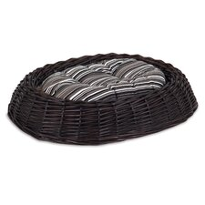 Willow Wicker Dog Bed with Pillow