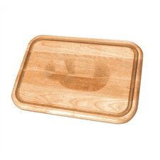 "24"" Versatile Meat Holding Wedge / Trench Cutting Board"