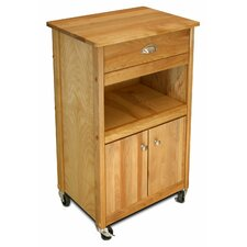 Cuisine Kitchen Cart with Butcher Block Top