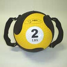 "Medballs With Straps 7.75"" in Yellow"