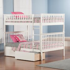 Woodland Full Over Full Standard Bunk Bed with 2 Drawers