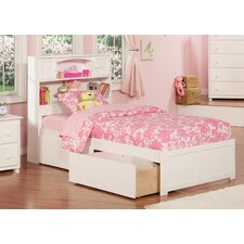 Newport Twin XL Plarform Bed with Drawers