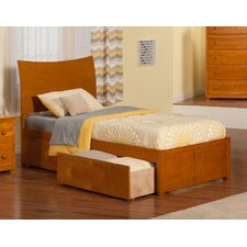 Soho Twin XL Sleigh Bed with Drawers