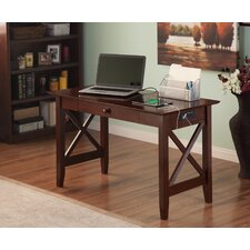 Chelsea Writing Desk with Drawer and Charging Station