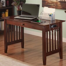 Cambridge Writing Desk with Drawer and Charging Station