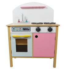 Pretend Play Pink Kitchen