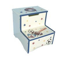 Sports 2-Step MDF All Star Game Step Stool with 200 lb. Load Capacity