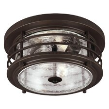Sauganash 2 Light Flush Mount