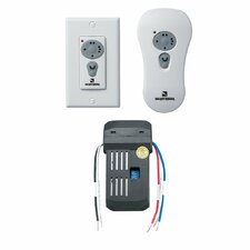 Combo Remote Control Kit with Canopy Installed Receiver in White