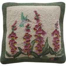 Hummingbird Garden Wool Throw Pillow