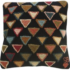 Triangles Wool Throw Pillow