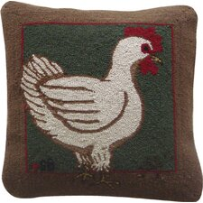 Fly the Coop Wool Hen Throw Pillow