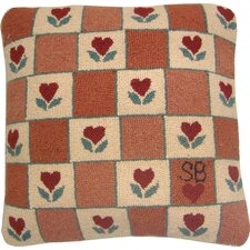 Heart in Hand Wool Throw Pillow