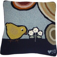 Baby Chicks Wool Throw Pillow