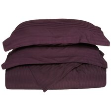 400 Thread Count Egyptian Cotton Stripe Duvet Cover Set