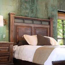 Golden Antique Wood Headboard