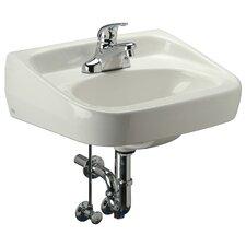 Standard Arm Bathroom Sink with Half Pedestal
