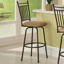 "30"" Swivel Bar Stool with Cushion (Set of 3)"