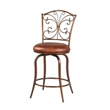"Butterfly 24"" Swivel Bar Stool with Cushion"